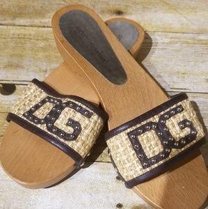 Authentic Dolce Gabbana wood sandals